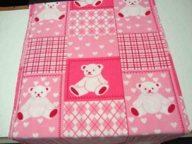 5a Fleece Patchwork Baby Roze/pink 9475-13N
