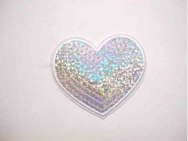 5a Glitter Hartje Zilver GHZ