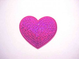 5f Glitter Hartje Pink GHP