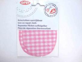 Kniestukken Boerenbont Roze
