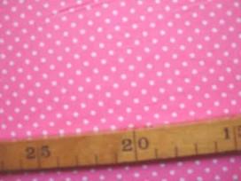 Roze soepelvallende babyrib corduroy met kleine witte stipjes . 100% katoen 1.45 meter. breed 145 gr/m2 21 Wales