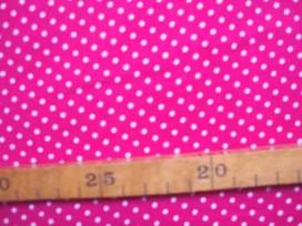 Pink kleurige soepelvallende babyrib corduroy met kleine witte stipjes . 100% katoen 1.45 meter. breed 145 gr/m2 21 Wales