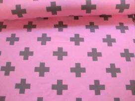 8e Tricot Oeko-Tex Plus Roze/grijs 9375-13N