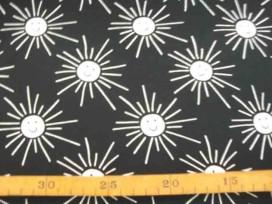Tricot Oeko-Tex Zonnetje met stralen Zwart/wit 9836-69N