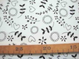 8n Tricot Oeko-Tex Takjes Wit/zwart 9838-50N