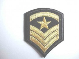 8r Leger applicatie Ster met 3 x V Goud leger 27