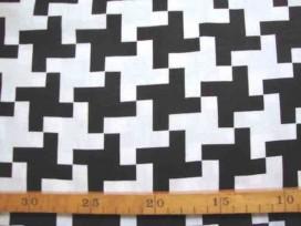 Katoen Zwart/Wit Grote scheve Plus recht 2467-69N