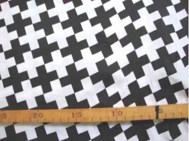 Katoen Zwart/Wit Kleine scheve Plus scheef 2471-69N