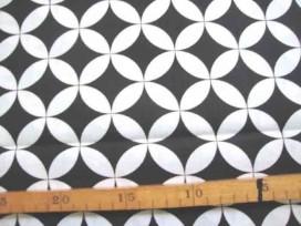 5e Katoen Zwart/Wit Gebogen zwarte wieber 2465-69N