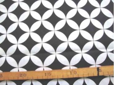 Katoen Zwart/Wit Gebogen zwarte wieber 2465-69N