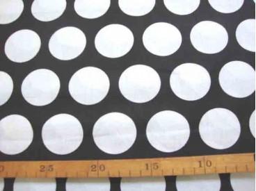 Katoen Zwart/Wit Grote witte cirkel 2477-69N