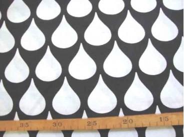 5h Katoen Zwart/Wit Grote witte druppel 2476-69N