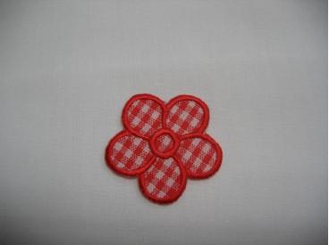 Rode boerenbont bloem applicatie