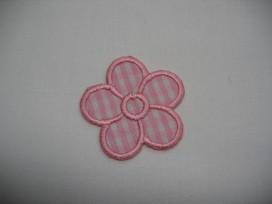 Roze boerenbont bloem applicatie