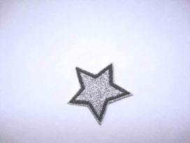 Glitter ster Zilver 1300
