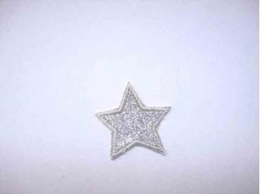 Glitter ster Wit 1301