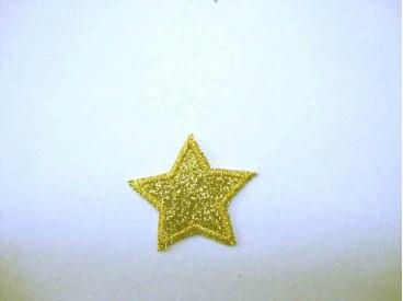 Glitter ster Goud 1302