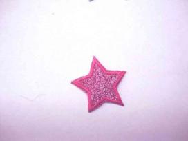 Glitter ster Roze/rood 1303