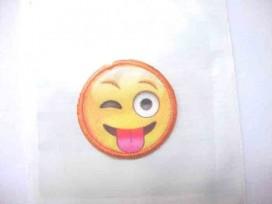 Smiley applicatie klein met knipoog
