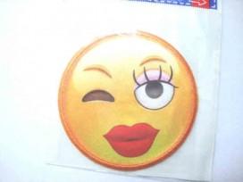 Applicatie Smiley Groot vrouwtje met knipoog S5