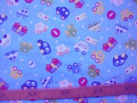 6p Kinderkatoen Aqua met auto's/verkeersborden 002-W