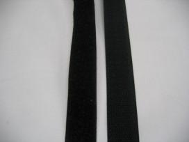 Klittenband zwart opnaaibaar. 3cm. breed
