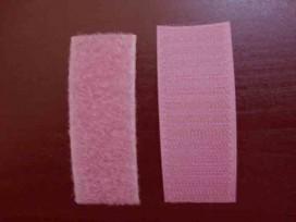 Oudroze opnaaibaar klitteband 3cm. breed