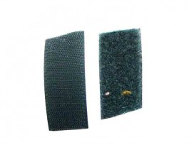 Klitteband Grasgroen opnaaibaar  3cm breed