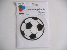 Voetbal Zwart/Wit 8 cm.