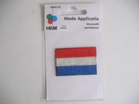 Applicatie Nederlandse Vlag 6x3,5cm.