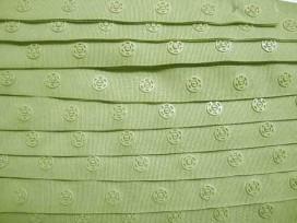 Drukkertjesband Taupe  18mm breed