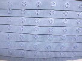 Drukkertjesband Jeansblauw  18mm breed