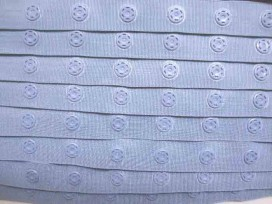 Drukkertjesband Jeansblauw