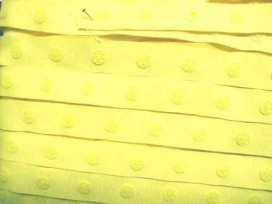 Drukkertjesband Geel  18 mm