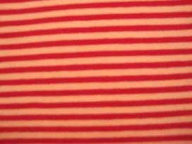 Tricot Ton sur ton Streepjes Oranje/Rood 3993-36N