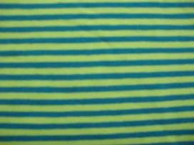 Tricot Ton sur ton Streepjes Lime/Petrol 3993-123N