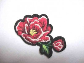 4e Applicatie Rozen Klein Rood 2 bloemen RK5