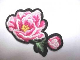 Rozen applicatie Kleine Roos Roze 2 bloemen