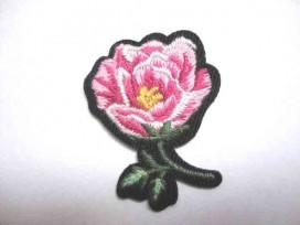 Rozen applicatie Kleine Roos Roze met blad/steel