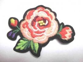 5d Applicatie Rozen Groot Roze 2 bloem/blad RG4