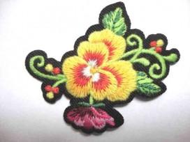 Rozen applicatie Grote Roos Geel 2 bloem/krul