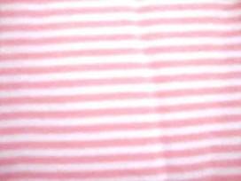 Boordstof streepjes Smal Roze/wit 986