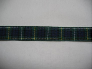 9w Sierband blauw/groen geruit 15mm.