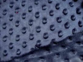 Minky Dots Donkerblauw