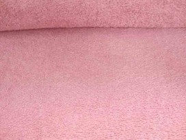 Badstof per meter € 9,95. Mooie kwaliteit oudroze dubbelgeluste badstof. 90% katoen/10%PL 1.42 mtr.br. 340 gr./M2