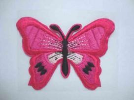 Vlinder applicatie 2 in 1 Pink