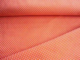 Mini stip katoen Oranje/wit 5575-36N