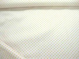 Mini stip katoen Wit/geel 5579-35N