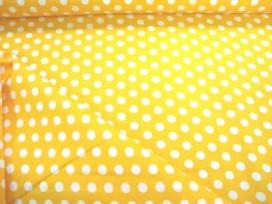 Middelstip katoen Geel/wit 5576-35N