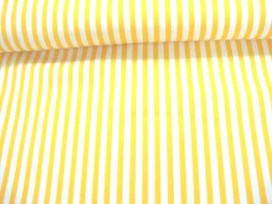 Lengtestreep katoen Geel/wit 5574-35N